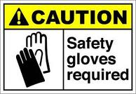 Safety gloves to prevent personal injury at work
