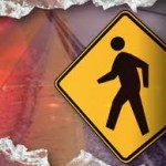 Pedestrian accident with car crossing road