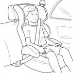 Child safety booster seat and car accident